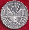 MONEDA AUSTRIA - KM 2878 - 10 GROSCHEN - 1.972 - ALUMINIO (MBC/VF) 0,60€.