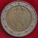 MONEDA ALEMANIA - KM 214 - 2 EUROS - 2.002 (G) CUPRONÍQUEL - LATÓN - BIMETÁLICA (MBC-/VF-) 3€.