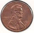 MONEDA ESTADOS UNIDOS - KM 201b - 1 CÉNTAVO DE DÓLAR USA - 1.995 (D) COBRE (SC-/UNC-) 0,60€.