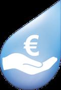 Symbol für steuerlich absetzbare Reinigungskosten von Solarzellen