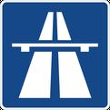 Autobahn Ausfahrt Eimeldingen. Nahe Autobahnzoll Basel.