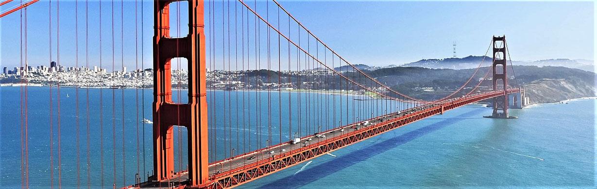 Golden Gate Bridge, San Francisco, Westküste USA 2 Wochen