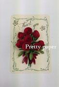 Oさんの薔薇のカード