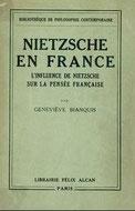 Geneviève Bianquis: Nietzsche en France