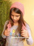 Cómo tejer un gorro capucha con borlas para niños