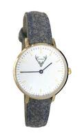 goldene Uhr mit grauem Filzband Tracht