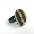 Floating Gold Ring Silber