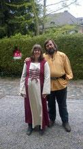 Auch wir haben uns mittelalterlich gekleidet