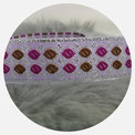 orientalische Brokatborte silber/ braun/lila