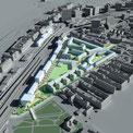 Stadtplanung Wien, EGD - Städtebauliches Entwicklungsgebiet der ÖBB, Hauptbahnhof Wien  © KNAUER ARCHITEKTEN