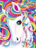 broderie diamant cheval multicolore