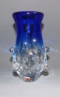 60er Jahre Glasvase, Künstlervase, Überfangglas, Tschechoslowakei, , € 120,00