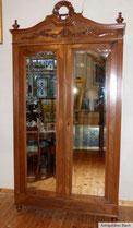 Spiegelschrank, Belgien, Louis XVI, Wäscheschrank, Nussbaum, Facettschliff, € 450,00