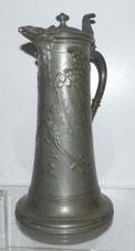 Kayserzinn, Adlerkanne, Historismus, Wappen, € 310,00015, Jugendstil, €