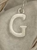 Buchstabenanhänger Metall ohne Strass, Buchstabe nach Wahl