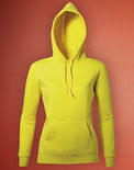 Maßtabelle Ladies Hooded Sweatshirt SG27F