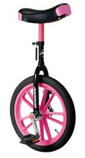 B)一輪車