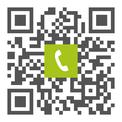 QR Telefonnummer der Zahnarztpraxis Dr. med. dent. Dennis J. P. Knebel, Zahnarzt in Ubstadt-Weiher:  einfach scannen und anrufen!