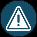 Icon für Risiko - Schild für Achtung