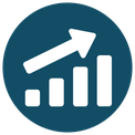 Progress icon - graph pointing up