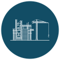 Icon - contruction site with crane