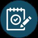 Icon - evaluation, notepad, pencil