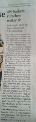 Pressebericht Westdeutsche Zeitung 2.11.2015