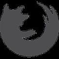 Logo Firefox Gris