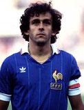Michel Platini, futbolista francés nos anos 80.