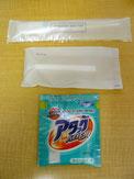 Toothbrush, Shaver, Washing powder