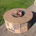 New Venetian Gold granite Fire Pit cover