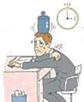 緊張型頭痛の様子