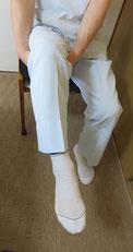 膝ぶら体操の写真
