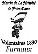 Le logo de la marche représente un volontaire.