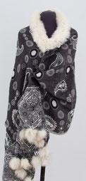 étole Kani 100% laine motifs cachemire