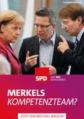 Merkels Kompetenz-Team auf dem SPD-Wahlplakat