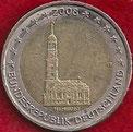 MONEDA ALEMANIA - KM 261 - 2 EUROS - 2.008 (F) CUPRONÍQUEL - LATÓN - HAMBURGO - BIMETÁLICA (EBC/XF) 6€.