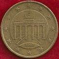 MONEDA ALEMANIA - KM 212 - 50 CÉNTIMOS DE EURO - 2.003 (J) ORO NÓRDICO (BC/VG) 1,75€.