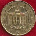 MONEDA ALEMANIA - KM 211 - 20 CÉNTIMOS DE EURO - 2.006 (D) ORO NÓRDICO (EBC-/XF-) 0,90€.