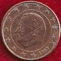 MONEDA BÉLGICA - KM 224 - 1 CÉNTIMO DE EURO - 1.999 - ACERO - COBRE (BC/VG) 0,30€.