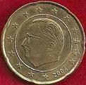 MONEDA BÉLGICA - KM 228 - 20 CÉNTIMOS DE EURO - 2.004 - ORO NÓRDICO (MBC-/+/VF-/+) 0,50€.