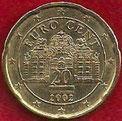 MONEDA AUSTRIA - KM 3086 - 20 CÉNTIMOS DE EURO - 2.002 - ORO NÓRDICO (MBC/VF) 0,75€.