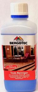 Bergotec Teak-Reiniger - die einfachste Methode gegen stark verschmutztes und vergrautes Holz