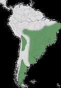 Karte zur Verbreitung der Ordnung der Nandus