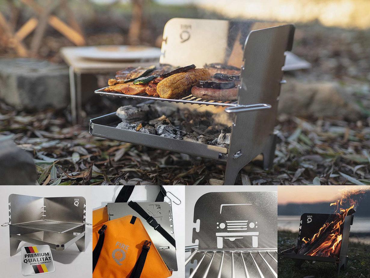 FireQ-Reisegrill und Feuerschale in Einem