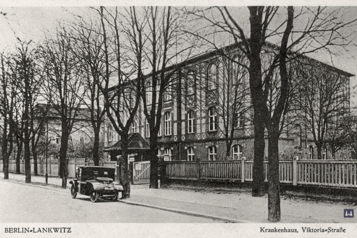 Die Kuranstalt Berolinum an der Lankwitzer Leonorenstraße. Das ehem. Kommunal - Krankenhaus Mitte der Zwanziger Jahre.