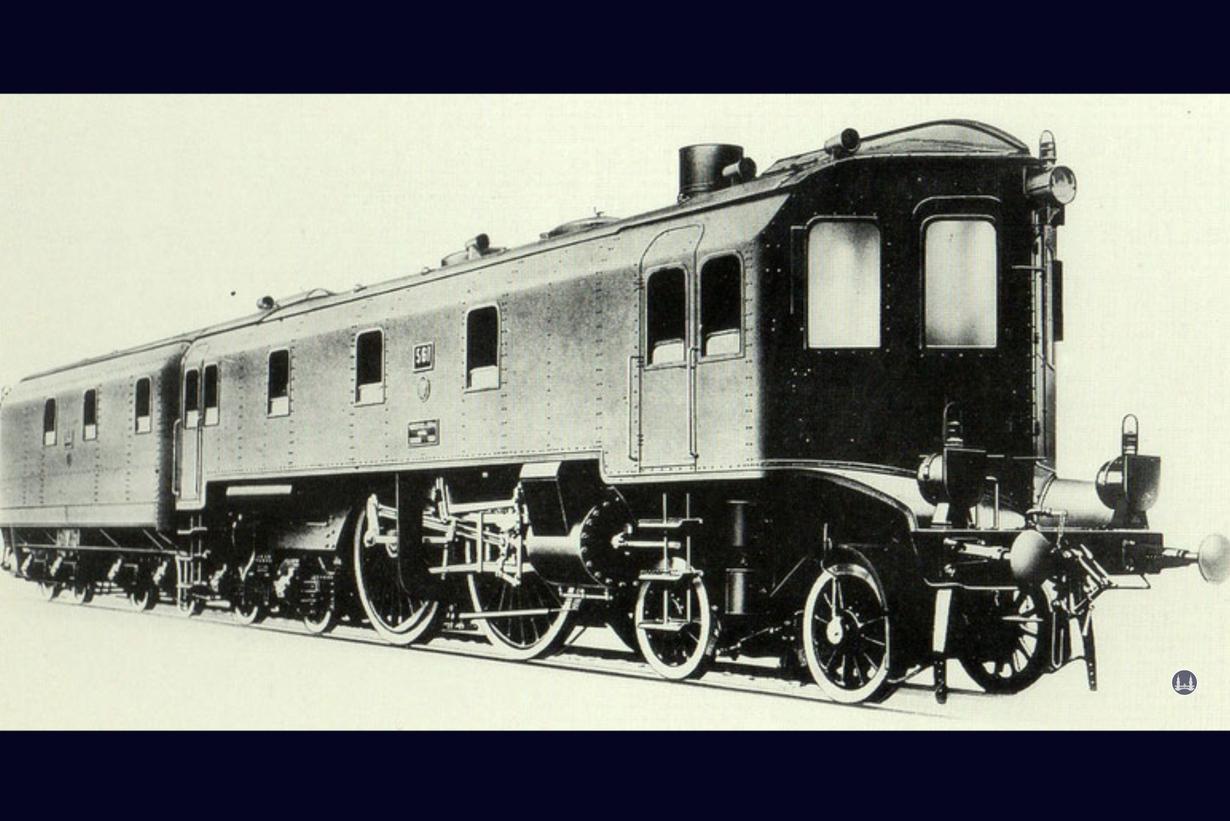 Die auf der Militäreisenbahn getestete Dampflok Altona 561.