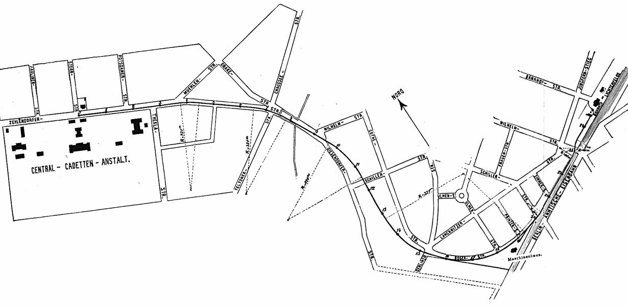 Stellwerk Lio in Berlin Lichterfelde - Ost. Erste Straßenbahnstrecke Berlins.