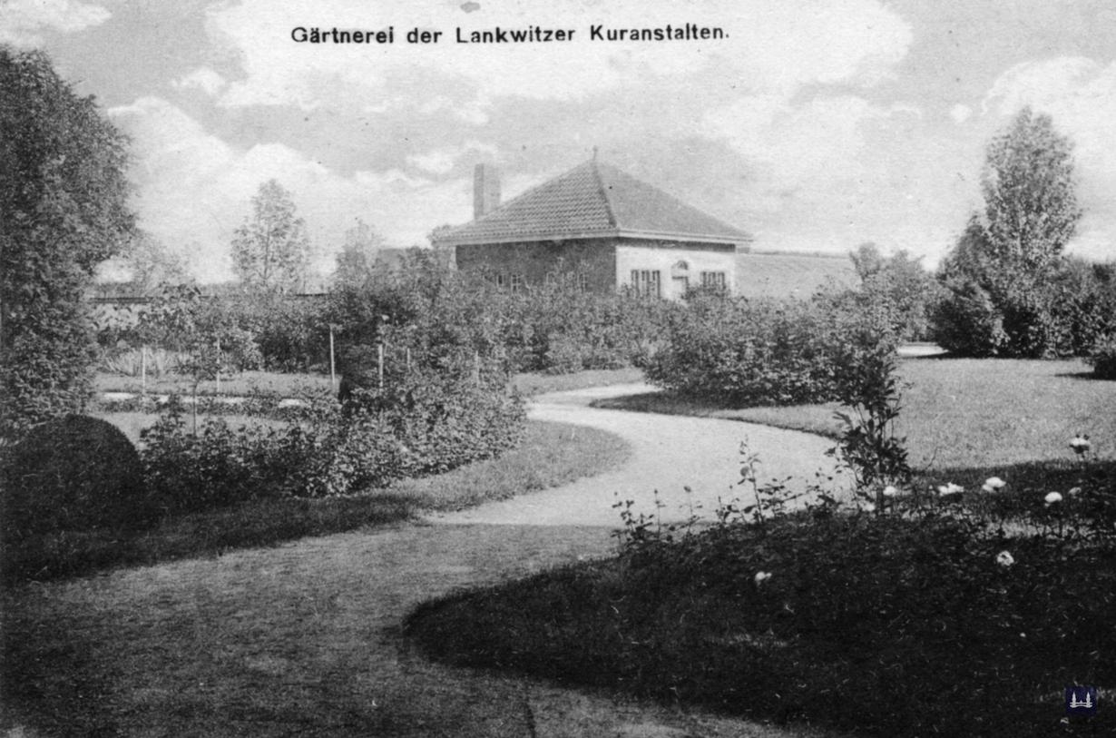 Die Kuranstalt Berolinum an der Lankwitzer Leonorenstraße. Die Gärtnerei der Kuranstalt.