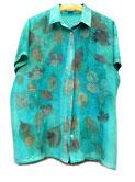 Mediumprint auf Hemdbluse aus Seide